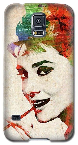 Audrey Hepburn Colorful Portrait Galaxy S5 Case