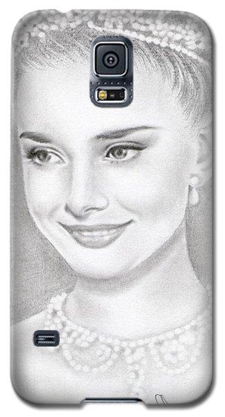 Audrey Hepburn Galaxy S5 Case by Eliza Lo