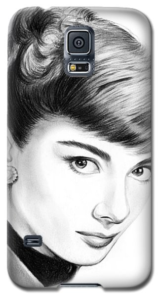 Audrey Hepburn Galaxy S5 Case by Greg Joens