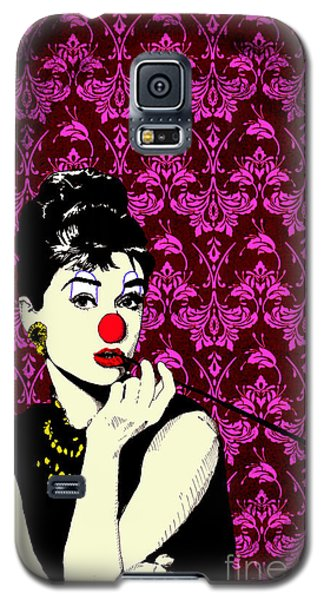 Audrey On Purple Galaxy S5 Case by Jason Tricktop Matthews