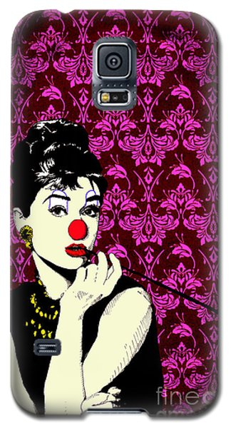 Galaxy S5 Case featuring the drawing Audrey On Purple by Jason Tricktop Matthews