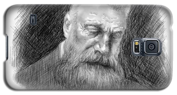 Galaxy S5 Case featuring the drawing Auguste Rodin by Antonio Romero