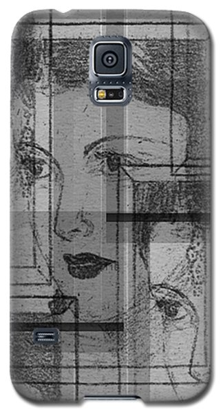 Aunt Edie Black And White Print Galaxy S5 Case