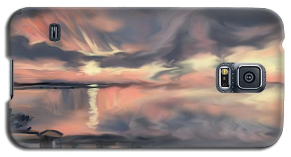 Galaxy S5 Case featuring the painting Aunt Jo by Jean Pacheco Ravinski