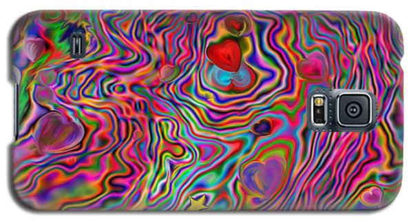 Galaxy S5 Case featuring the painting Aura Lights by Roxy Riou