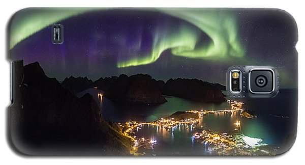 Aurora Above Reine Galaxy S5 Case