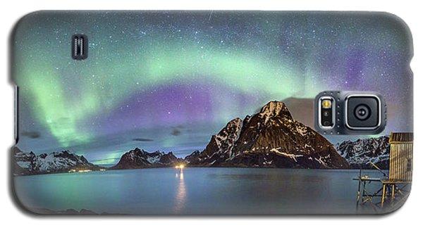 Aurora Above Reinefjord Galaxy S5 Case