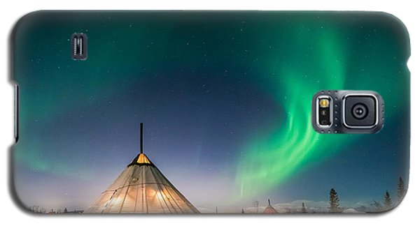 Aurora Above Sami Tent Galaxy S5 Case