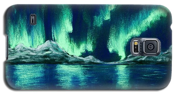 Galaxy S5 Case featuring the pastel Aurora Borealis by Anastasiya Malakhova