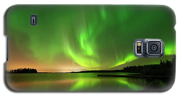 Aurora Borealis At Elk Island National Park Galaxy S5 Case