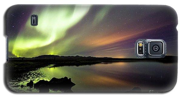 Aurora Borealis Over Thinvellir Galaxy S5 Case