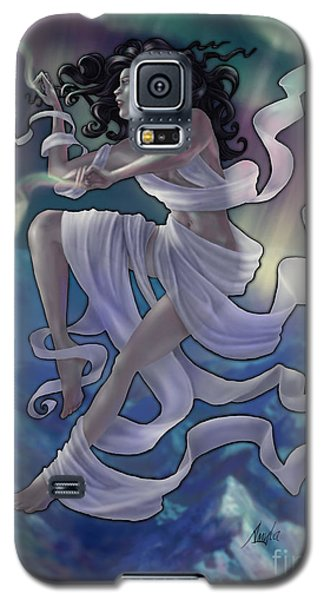 Galaxy S5 Case featuring the digital art Aurora Weaver by Amyla Silverflame