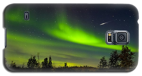 Aurora With Meteor  Galaxy S5 Case