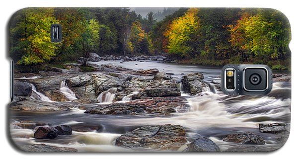 Galaxy S5 Case featuring the photograph Ausable Cascades by Mark Papke