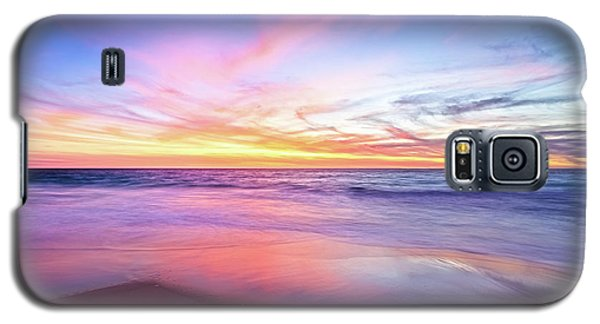 Galaxy S5 Case featuring the photograph Aussie Sunset, Claytons Beach, Mindarie by Dave Catley