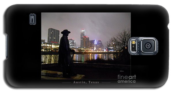 Austin Hike And Bike Trail - Iconic Austin Statue Stevie Ray Vaughn - One Greeting Card Poster Galaxy S5 Case