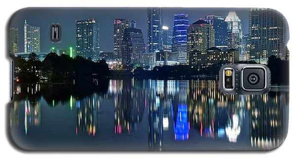 Austin Night Reflection Galaxy S5 Case by Frozen in Time Fine Art Photography