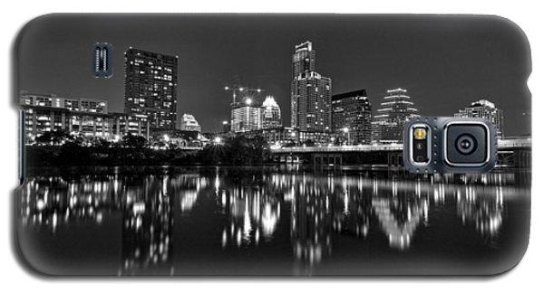 Austin Skyline At Night Black And White Galaxy S5 Case