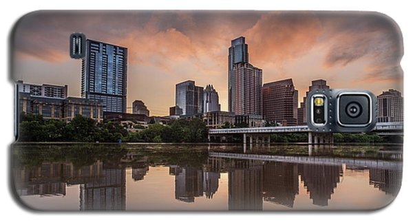 Austin Skyline Sunrise Reflection Galaxy S5 Case