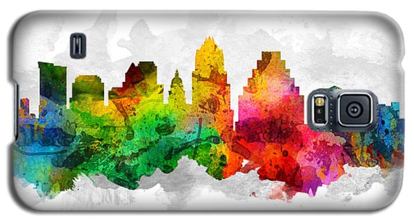 Austin Texas Cityscape 12 Galaxy S5 Case by Aged Pixel