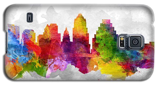 Austin Texas Cityscape 13 Galaxy S5 Case by Aged Pixel