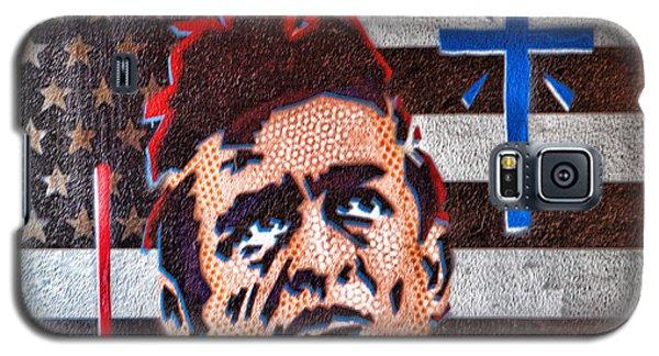 Austin Texas Johnny Cash Mural Galaxy S5 Case by Linda Phelps