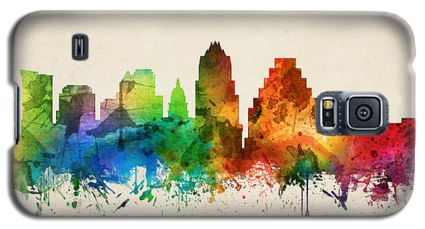 Austin Texas Skyline 05 Galaxy S5 Case by Aged Pixel