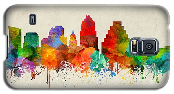 Austin Texas Skyline 22 Galaxy S5 Case by Aged Pixel