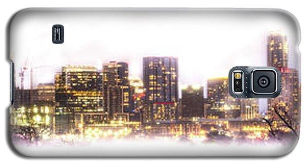 Austin Texas Skyline With White Blackground  Galaxy S5 Case