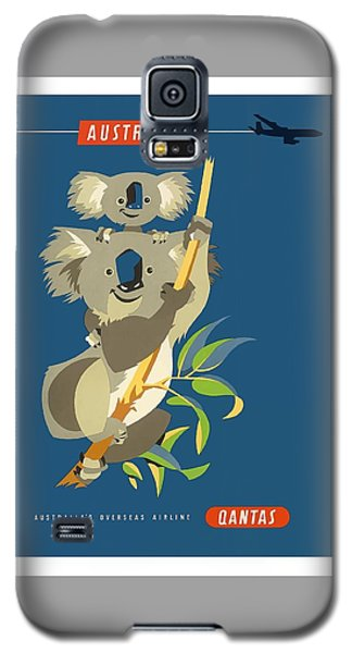 Koala Galaxy S5 Case - Australia Koala Bears Qantas Empire Airways Vintage Travel Poster by Retro Graphics
