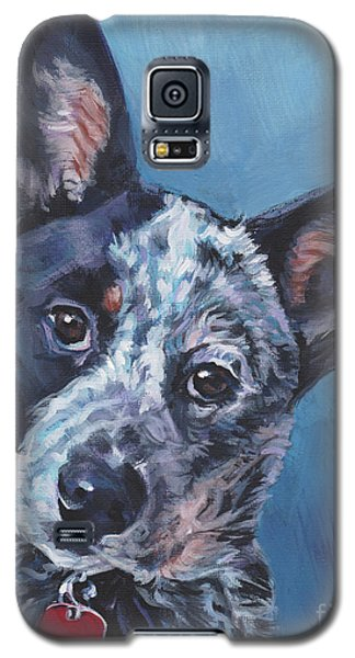 Galaxy S5 Case featuring the painting Australian Cattle Dog by Lee Ann Shepard