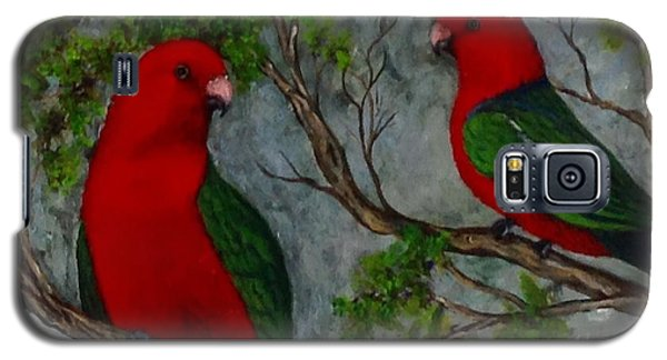 Galaxy S5 Case featuring the painting Australian King Parrot by Renate Voigt
