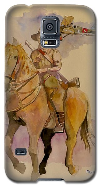 Galaxy S5 Case featuring the painting Australian Light Horse Regiment. by Ray Agius