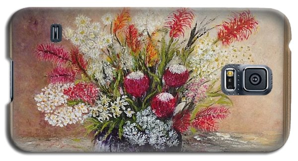 Galaxy S5 Case featuring the painting Australian Natives by Renate Voigt