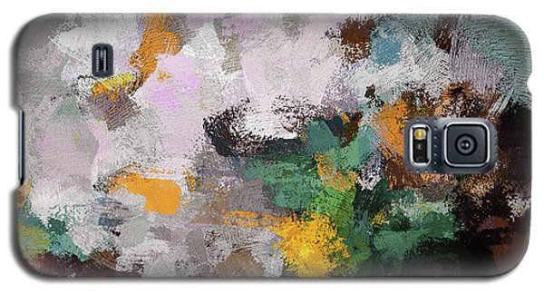 Galaxy S5 Case featuring the painting Autumn Abstract Painting by Ayse Deniz