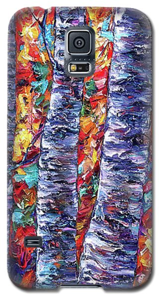 Autumn  Aspen Trees Contemporary Painting  Galaxy S5 Case