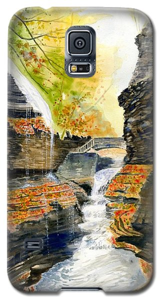 Autumn At Rainbow Falls  Galaxy S5 Case by Melly Terpening
