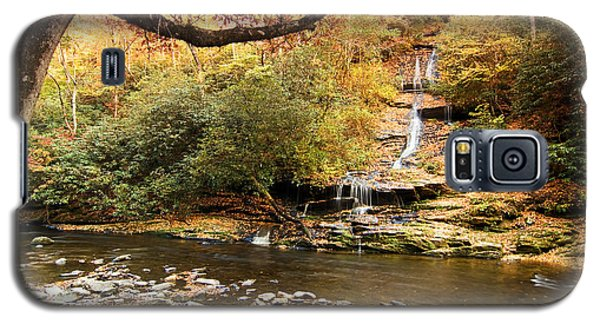 Galaxy S5 Case featuring the photograph Autumn At Tom Branch Falls  by Bob Decker