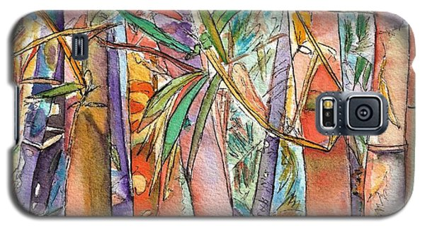 Galaxy S5 Case featuring the painting Autumn Bamboo by Marionette Taboniar