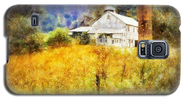 Galaxy S5 Case featuring the digital art Autumn Barn In The Morning by Francesa Miller