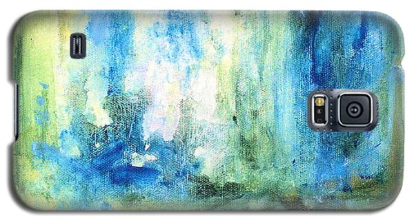 Galaxy S5 Case featuring the painting Spring Rain  by Laurie Rohner