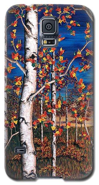 Autumn Birch Forest Galaxy S5 Case