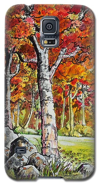 Galaxy S5 Case featuring the painting Autumn Bloom by Terry Banderas