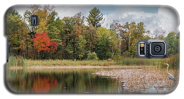 Autumn Blue Heron Galaxy S5 Case