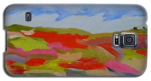 Galaxy S5 Case featuring the painting Autumn Blueberry Hill by Francine Frank