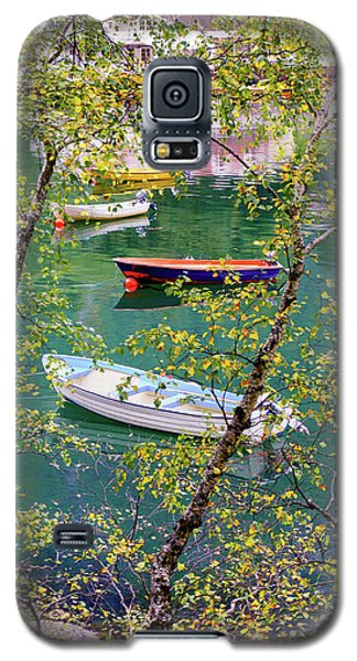 Galaxy S5 Case featuring the photograph Autumn. Boats by Dmytro Korol