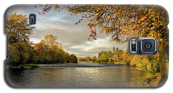 Galaxy S5 Case featuring the photograph Autumn By The River Ness by Jacqi Elmslie