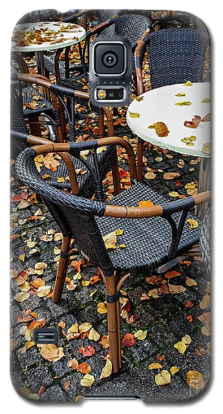 Galaxy S5 Case featuring the photograph Autumn Cafe by Elena Elisseeva