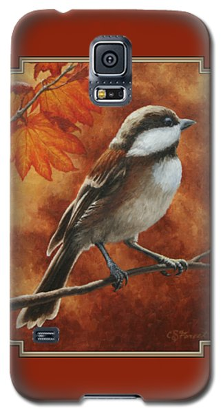 Autumn Chickadee Galaxy S5 Case