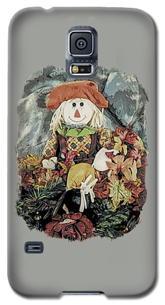 Galaxy S5 Case featuring the digital art Autumn Country Scarecrow by Kathy Kelly